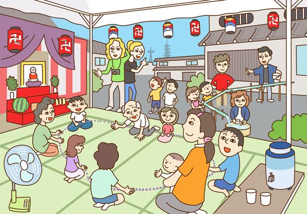 京都のイラスト 地蔵盆