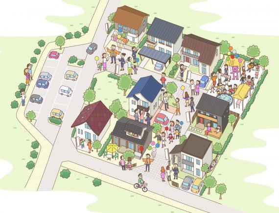 住宅展示場の俯瞰図